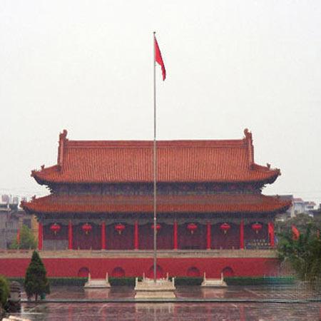 临汾尧庙广场天安门
