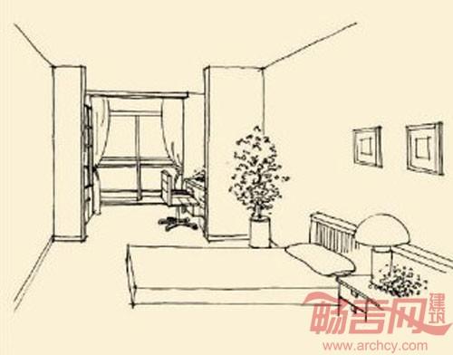 儿童卧室平面图简笔画