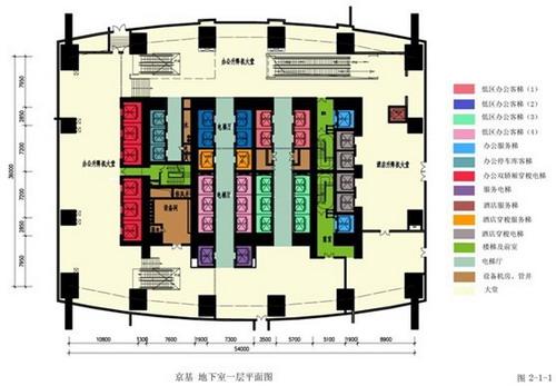 地下一层平面图-浅谈超高层建筑核心筒及其电梯设计图片
