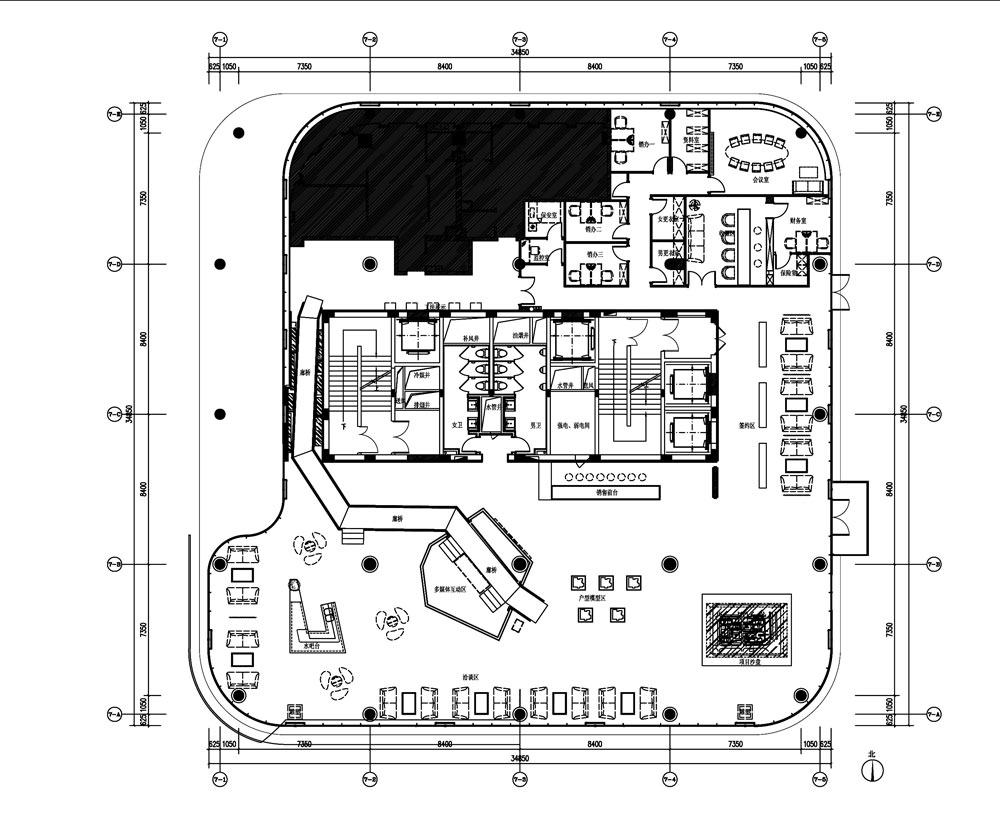 异形空间设计平面图_异形办公空间平面图,异形纸盒平面图图片;