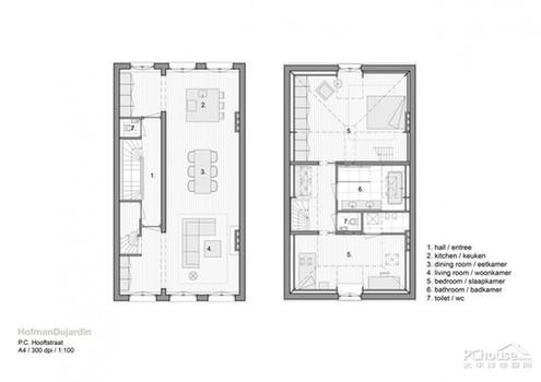 光影的设计 荷兰小户型老房空间翻新_财经频道_; 旅馆设计平面图