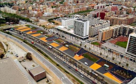 梯形的城市广场手绘设计平面图分享展示