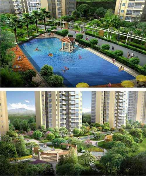 庆香逸半山住宅小区景观设计