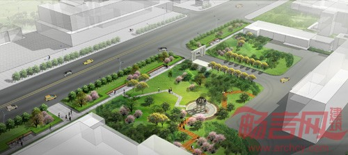 城市绿地设计手绘图分享展示