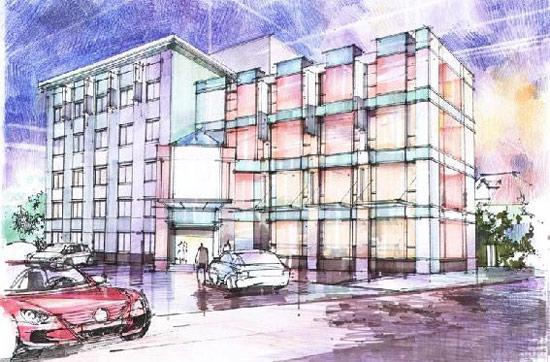 马克笔+彩铅建筑手绘步骤图