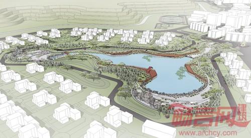 内蒙古大唐湿地公园景观设计-鲁旸 景观是艺术与场景并存的 戏剧图片