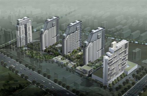城市芯宇位于杭州市中心文一路与教工路交汇处,为原浙江理工大学校址
