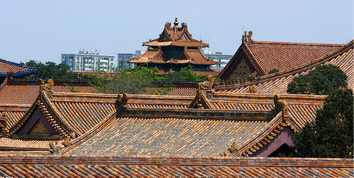 中式宫殿屋顶手绘