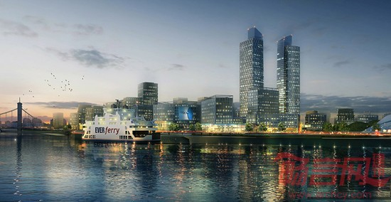 山东威海双岛湾科技城城市设计 高清图片