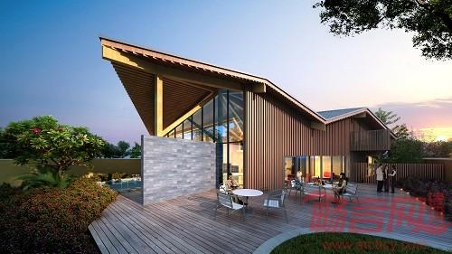 建筑采用梁柱式木结构