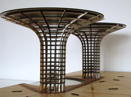 """积水摩天大厦:""""倒树形""""设计解决干旱问题 -- 建筑畅言"""