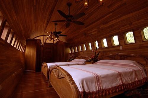 俯瞰雨林的飞机宾馆