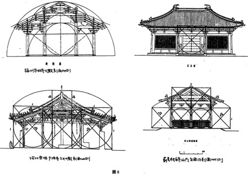 古建屋顶结构平面图