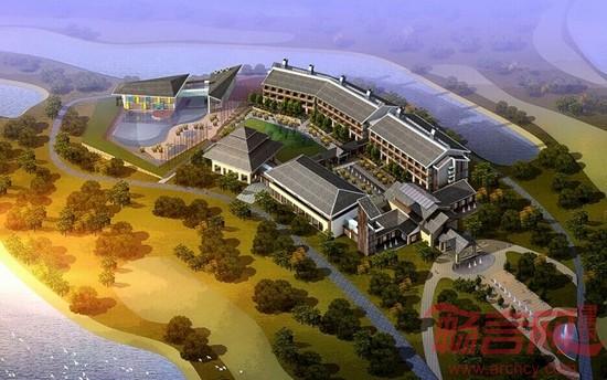 项目名称:张家港双山高尔夫酒店 用地面积:36500 建筑面积:21000 酒店依照高尔夫球场起伏的地貌,采用了群落组织的设计手法,将前台和观景塔布置于东侧。利用北侧的客房楼和南侧的餐饮服务楼构成了曲折而尺度宜人的庭院界面。张家港双山岛高尔夫酒店在设计过程中采用了众多因地制宜的绿色建筑设计策略,包括自然通风策略,绿色环保建材技术,室内环境控制改善技术,雨水收集和利用技术,资源回用技术,绿化配置技术等,是一个基于苏南地区的绿色建筑技术的集成和示范样本。