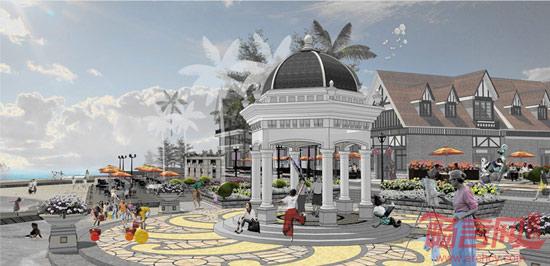 恒大海花岛e区商业街景观 -- 建筑畅言网
