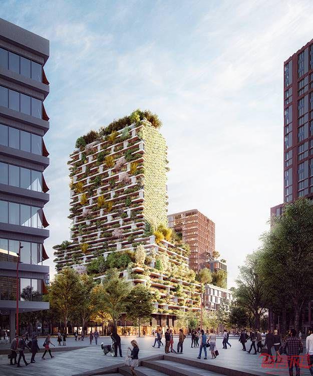 荷兰首座垂直森林将在乌得勒支开工建设。该项目由Stefano Boeri设计,建筑师在某大型城市规划项目竞赛中取得了优胜。项目位于Jaarbeurs大道区,两座高层建筑比邻而居,一座由Boeri设计,另一座由MVSA完成。Boeri一直以将建筑同自然结合而闻名,新建的90米高楼名为Hawthorn大厦,将提供全新的体验,外立面包含1万株不同种类的植物。
