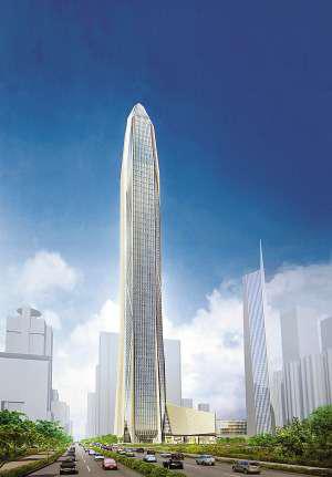 平安国际金融中心(中国深圳),计划2014年完工,588米(图片来源:新浪