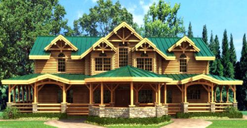 国外森林小房屋