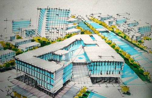 建筑手绘图(图片来源:百度)