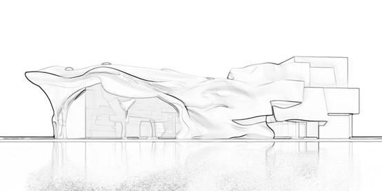 藏族风景建筑线稿画