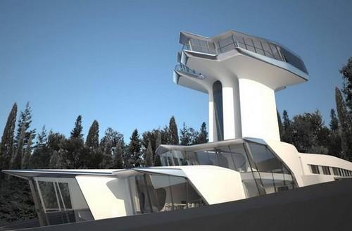 扎哈的太空飞行别墅