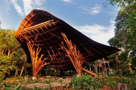 该设计的目的是研究竹子,并挖掘它作为建筑材料而不止是装饰材料所能
