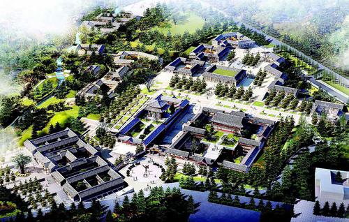 河南:嵩山少林武术博物院项目进展图片